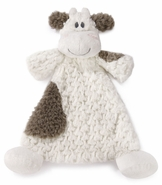 Nat & Jules Moozer Cow Rattle Cozy Baby Blankie