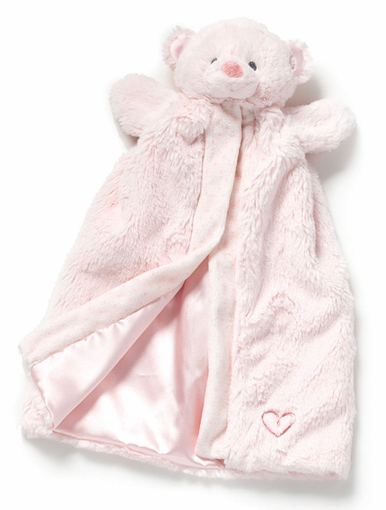 Nat Amp Jules Pink Bear Puppet Blanket Baby Blankie From
