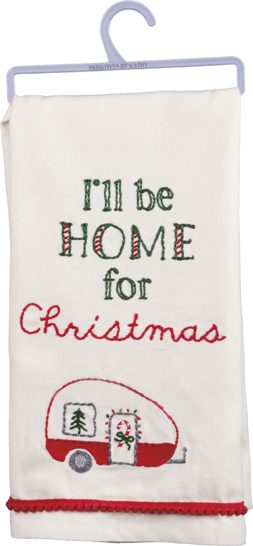 Primitives by Kathy Dish Towel - I\'ll be Home for Christmas | Hearts ...