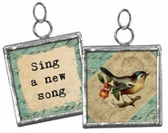 Primitives by Kathy Pendant Charm - Sing a New Song
