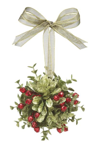 "Mistletoe Ball Decoration Delectable Ganz Small Mistletoe Door Decor Kissing Ball  35""  Hearts Inspiration Design"