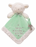 "Snuggle Buddy Lamb Paci Holder - ""Love you more than all the stars"""