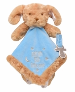 "Snuggle Buddy Puppy Blanket with Paci Holder - ""Dream Big Little One"""