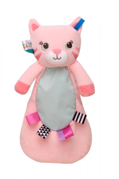 Taggies Kitty Baby Plush Security Blanket Pink Hearts