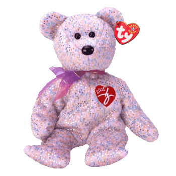 Ty Beanie Babies 2001 Signature Bear Hearts Desire Gifts