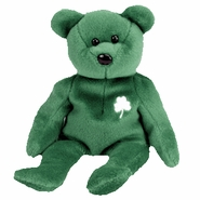 TY Beanie Babies Erin the Irish Bear with Shamrock
