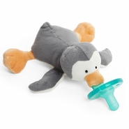 WubbaNub Gray Penguin Pacifier
