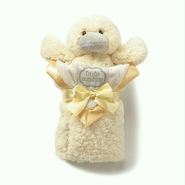 Kathy Ireland Yellow Plush Duck & Baby Blanket Set