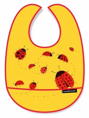 Crocodile Creek Bib <br>Ladybugs in Motion