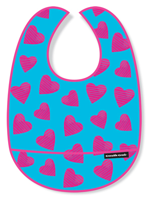 Crocodile Creek <br>Hearts All Over Bib