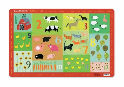 Crocodile Creek <br>Placemat <br>123 Barnyard