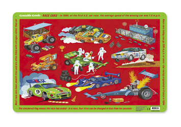 Crocodile Creek <br>Placemat <br>Race Cars