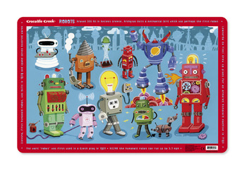 Crocodile Creek <br>Placemats <br>Robots