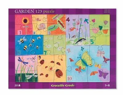 Crocodile Creek <br>Tray Puzzle <br>Garden 123