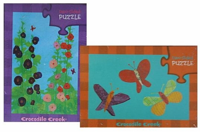 Crocodile Creek <br>Two-sided Puzzle <br>Butterflies/Hollyhocks