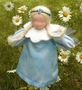 "Evi Doll <br>Blue Flower Fairy <br>6"" Waldorf Doll"