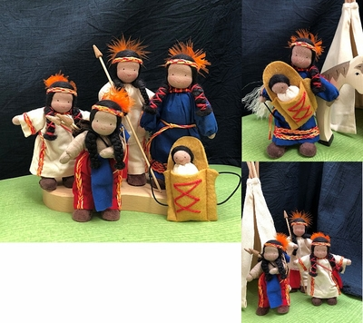 Evi Dolls <br>Native American Family