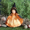 """Evi Doll <br>Witch Girl <br>6"""" Waldorf Doll"""