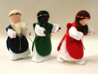 "Evi Dolls <br>Three Wise Kings <br>6"" Waldorf Dolls"