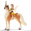 Schleich Fantasy <br>Female Elf <br>on Forest Unicorn