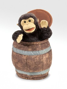 Folkamanis Puppet <br>Monkey in a Barrel