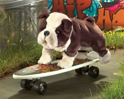 Folkmanis Puppet <br>English Bulldog Puppy