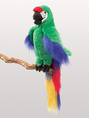 Folkmanis Puppet <br>Green Macaw