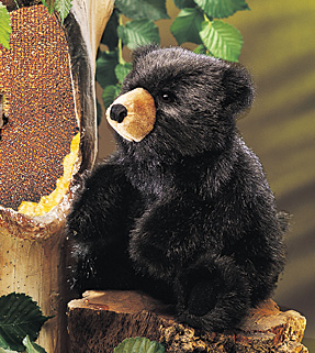 Folkmanis Puppet <br>Baby Black Bear