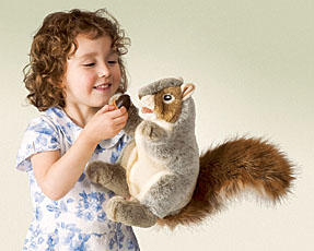 Folkmanis Puppet <br>Gray Squirrel