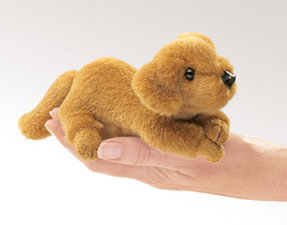 Folkmanis Puppet <br>Mini Golden Retriever