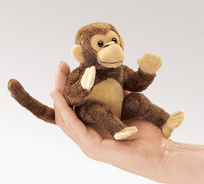 Folkmanis Puppet <br>Mini Monkey