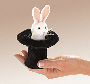 Folkmanis Puppet <br>Mini Rabbit in Hat