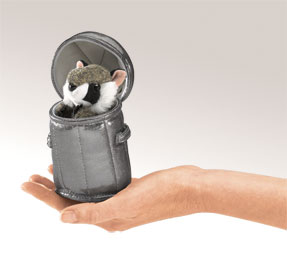 Folkmanis Puppet <br>Mini Raccoon in Can