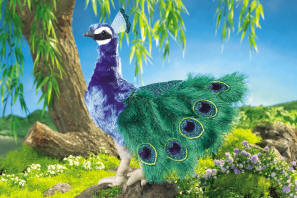 Folkmanis Puppet <br>Peacock