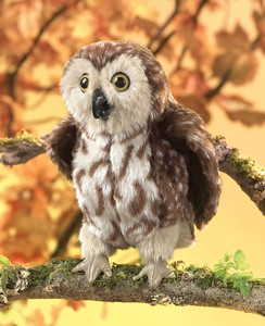 Folkmanis Puppet <br>Saw-whet Owl
