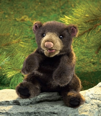 Folkmanis Puppet <br>Small Black Bear