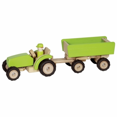 GoKi Green Tractor <br>with Trailer