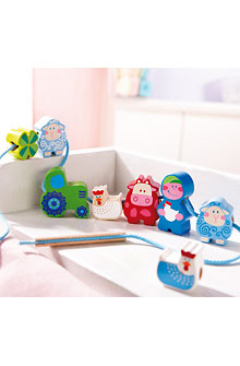 HABA Bambini Beads <br>Moo & Baa <br>Threading Beads