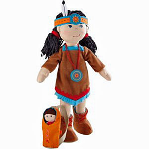 "HABA Doll 15"" <br>American Indian <br>Sihu"