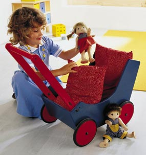 Haba Doll Pram <br>Blue