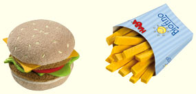 Haba Hamburger  <br>and French Fries
