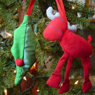 Haba Ornament <br>Moose and Holly