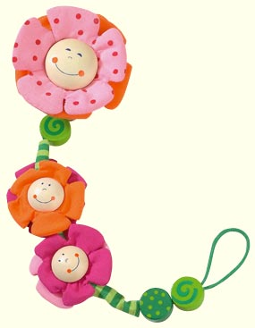 Haba Pacifier Chain <br>Blossoms