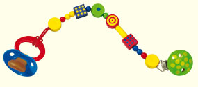 Haba Pacifier Chain <br>Motley