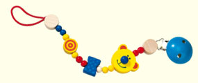 Haba Pacifier Chain <br> Teddy