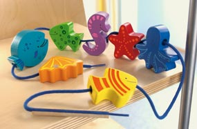 Haba Threading Beads <br>Aqua Zoo