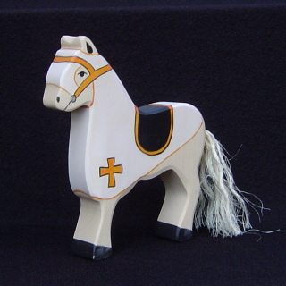 Holztiger <br>White Tournament Horse