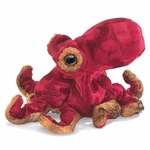 Folkmanis Finger Puppet <br>Mini Red Octopus