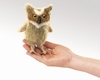 Folkmanis Finger Puppet <br>Mini Great Horned Owl