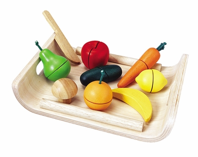 Plan Toys <br>Assorted Fruits <br>& Vegetables